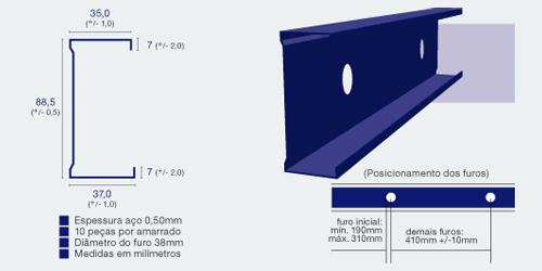 Perfil drywall bh forro de gesso for Medidas perfiles pladur